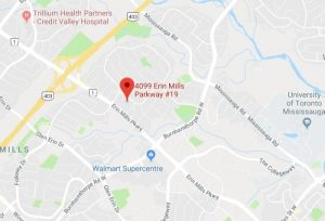 Google map to Erin Mills Wellness and Health Centre